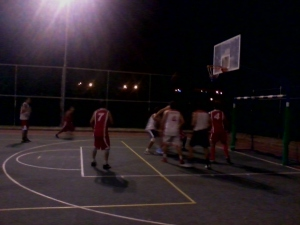 Kibbutz Hannaton basketball game
